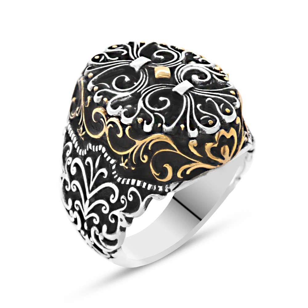 Miğfer Tasarım 925 Ayar Gümüş Yeniçeri Yüzüğü