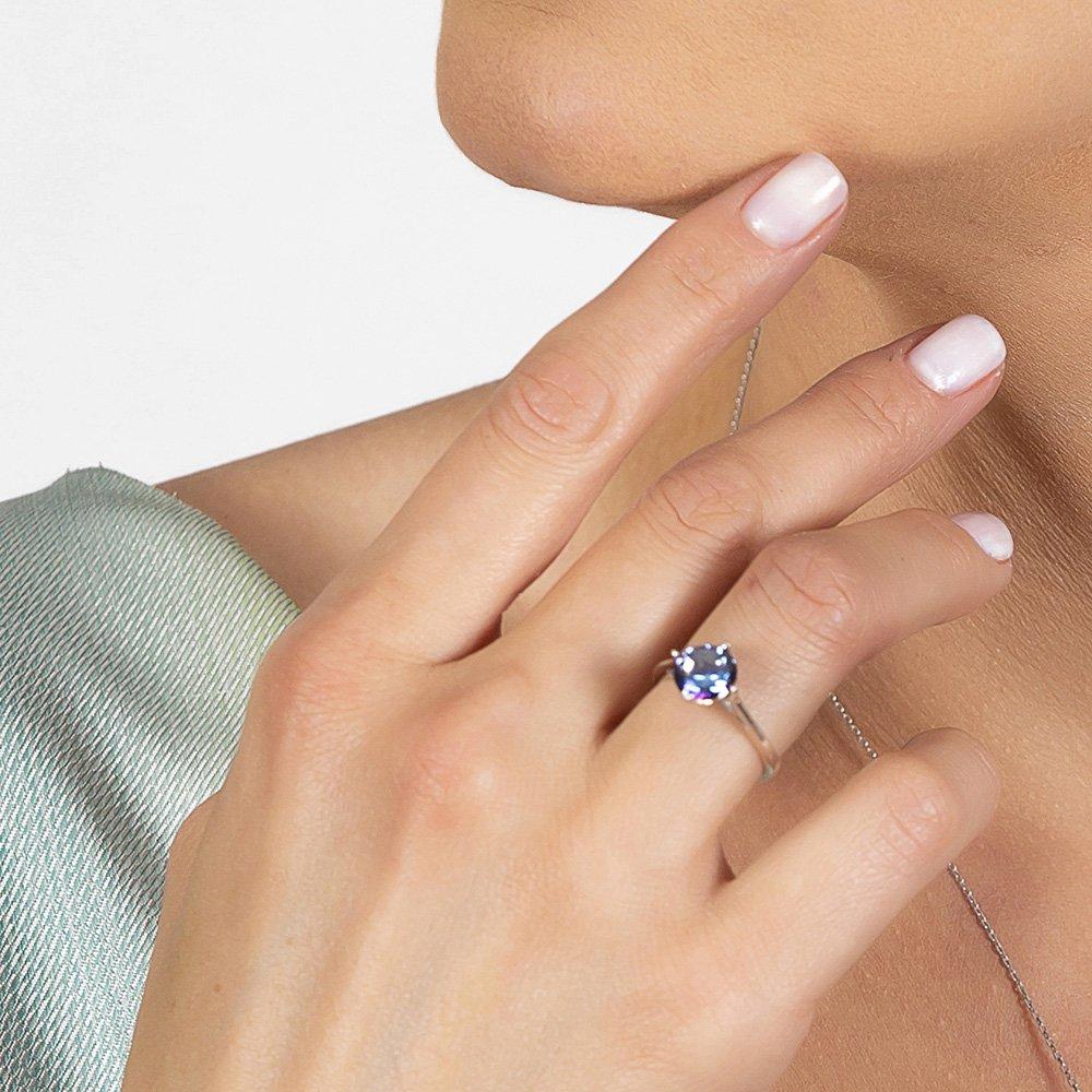 Mistik Topaz Taşlı Oval Tasarım 925 Ayar Gümüş Kadın Yüzük