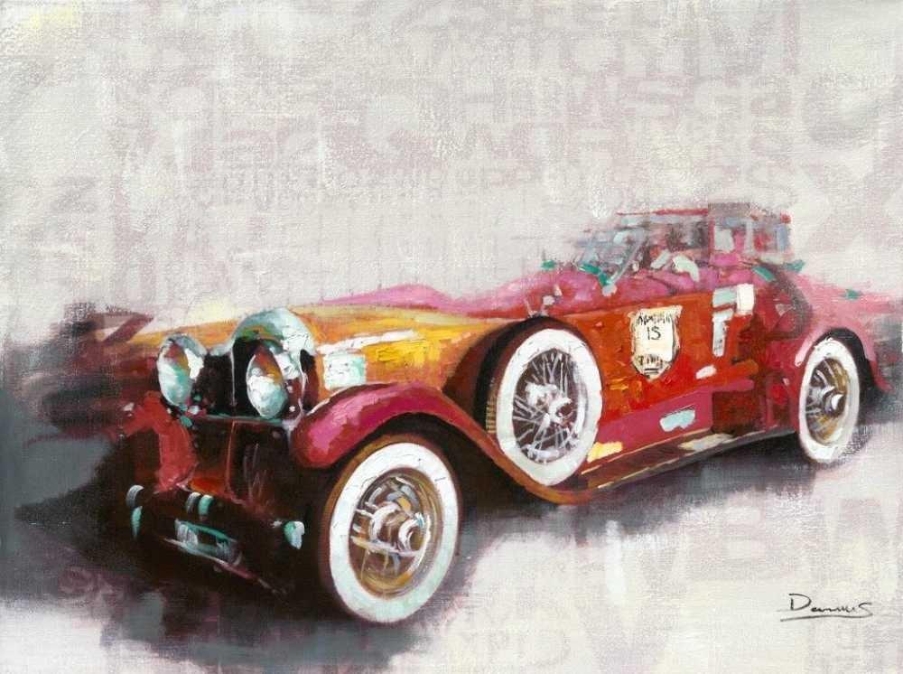 Nostalji Araba Tasarım Kanvas Tablo