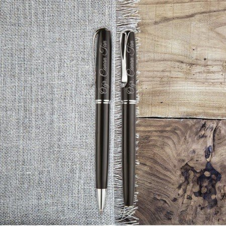 Öğretmenler Günü Hediyesi Kalem Seti Ediz Siyah - Thumbnail