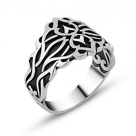 Özel Tasarım 925 Ayar Gümüş Yüzük - Thumbnail