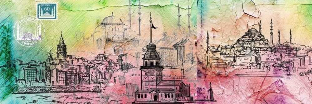 Özel Tasarım İstanbul Temalı Kanvas Tablo