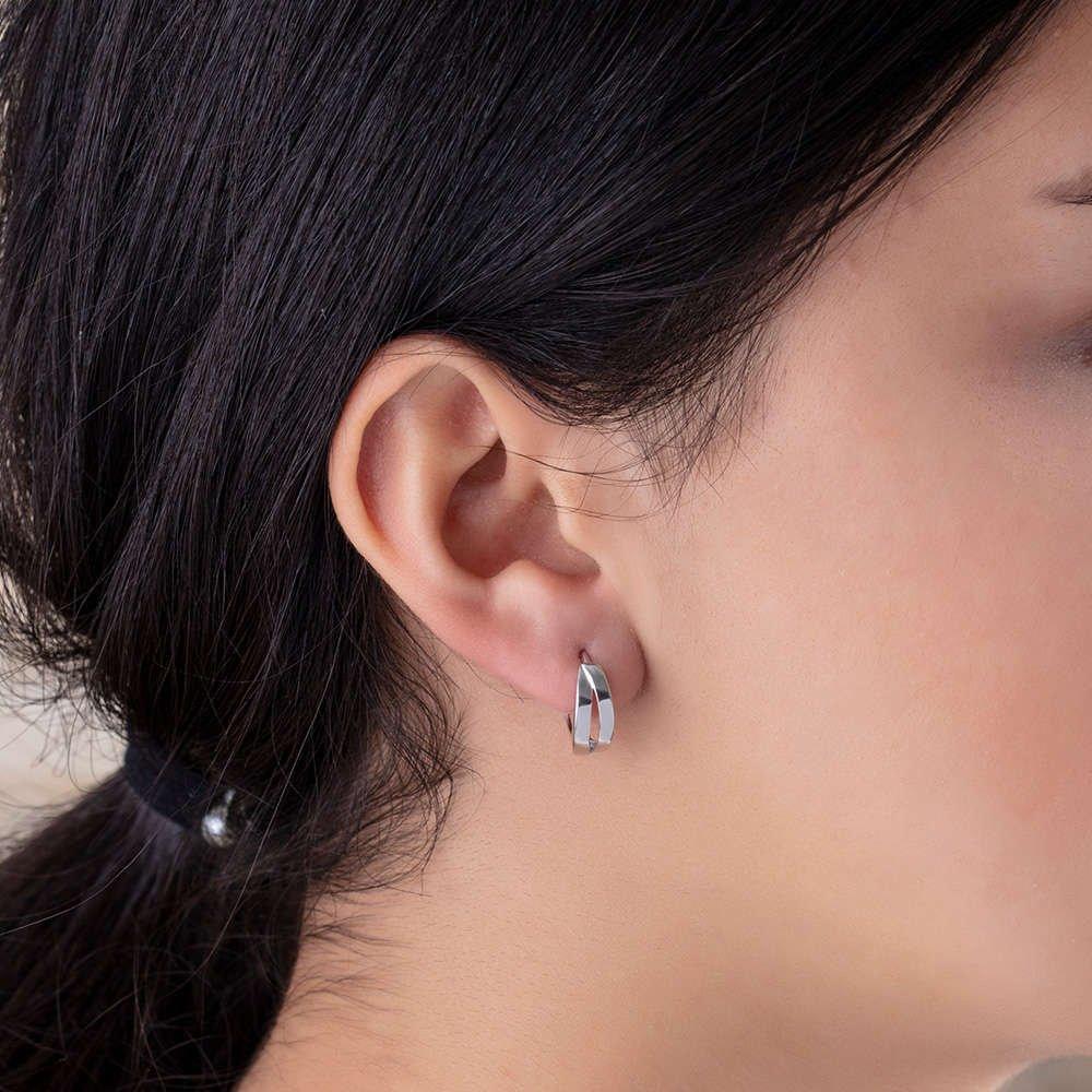 Sade-Zarif Tasarım 925 Ayar Gümüş Bayan Küpe