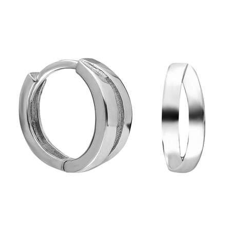 Sade-Zarif Tasarım 925 Ayar Gümüş Bayan Küpe - Thumbnail