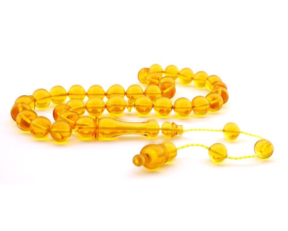 Sarı Bakalit Kehribar Tesbih