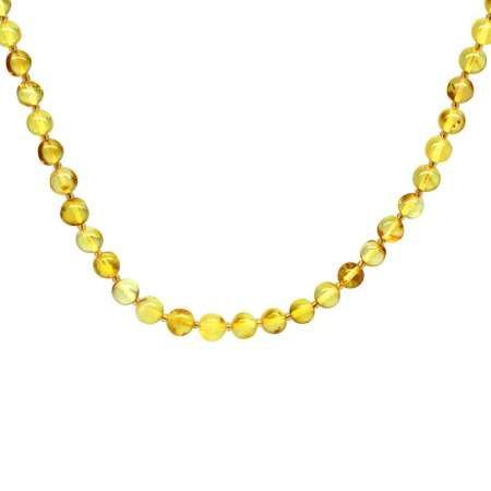 Şeffaf Sarı Doğal Damla Kehribar Kadın Kolye - Thumbnail