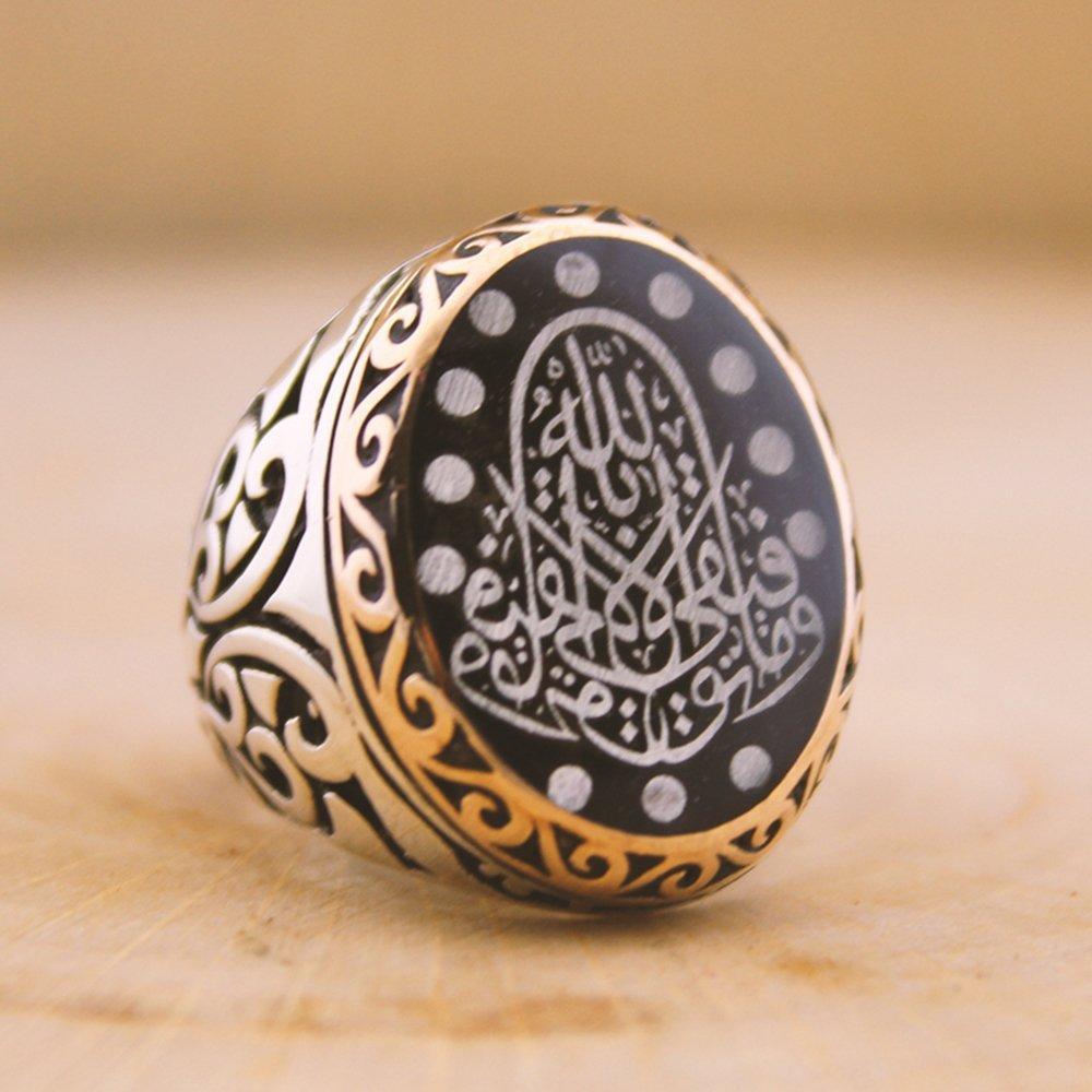 Siz İsteyin Biz Yapalım - Kişiye Özel Yazılı 925 Ayar Gümüş Yüzük Arapça -34-