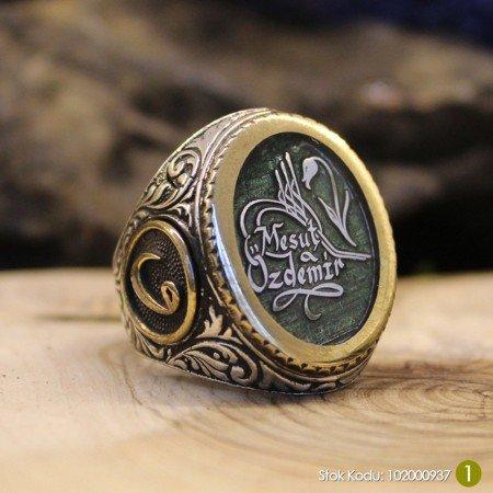 Siz İsteyin Biz Yapalım - Kişiye Özel Yazılı 925 Ayar Gümüş Yüzük Türkçe -24- - Thumbnail