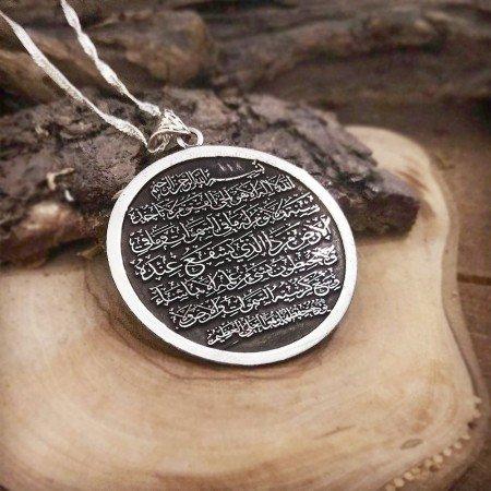 Madalyon Tasarım Kişiye Özel İsim Yazılı 925 Ayar Gümüş Kolye - Thumbnail