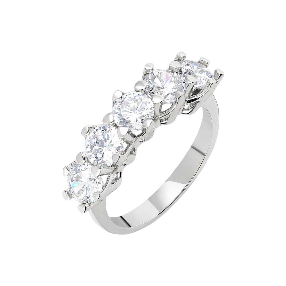 Starlight Diamond Pırlanta Montür 925 Ayar Gümüş Bayan Beştaş Yüzük