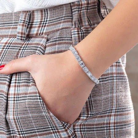 Starlight Diamond Pırlanta Montür Baget Taşlı 925 Ayar Gümüş Su Yolu Bileklik - Thumbnail