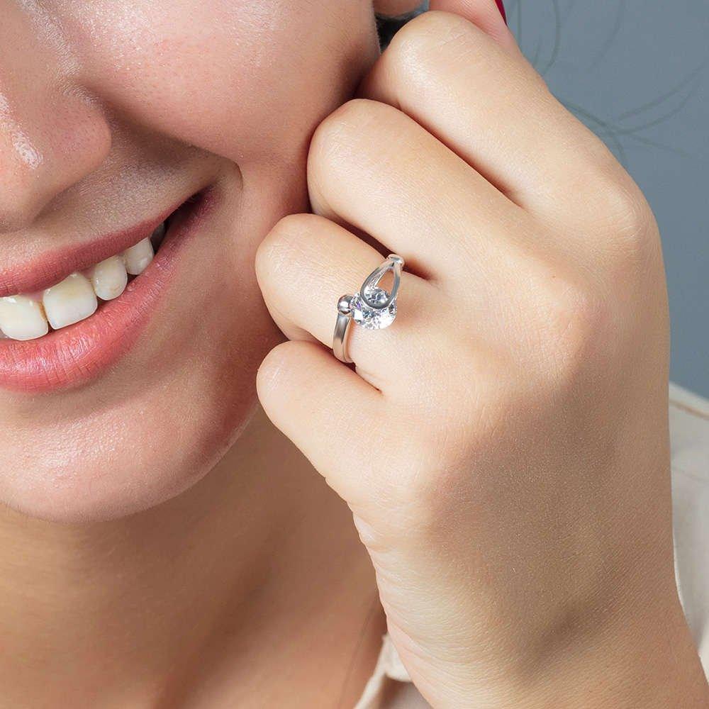 Starlight Diamond Pırlanta Montür Elegance 925 Ayar Gümüş Bayan Tektaş Yüzük