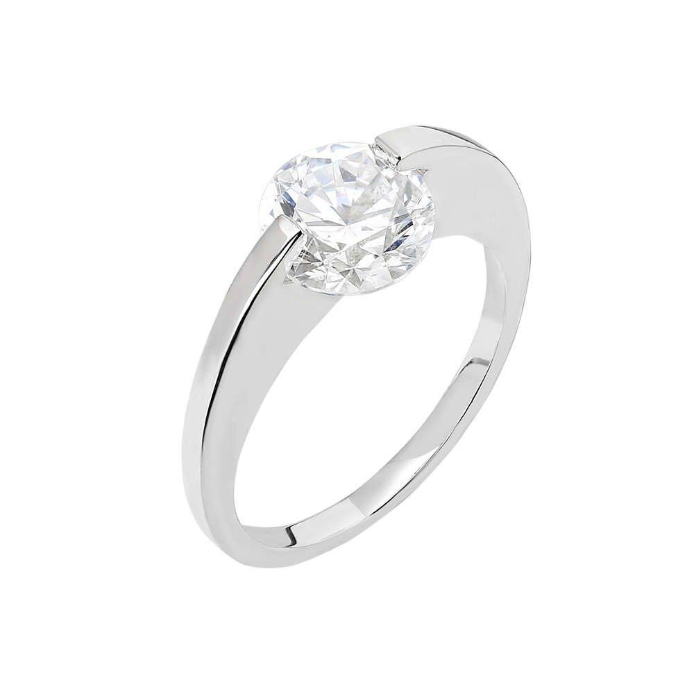 Starlight Diamond Pırlanta Montür Elmas Görünüm 925 Ayar Gümüş Bayan Tektaş Yüzük