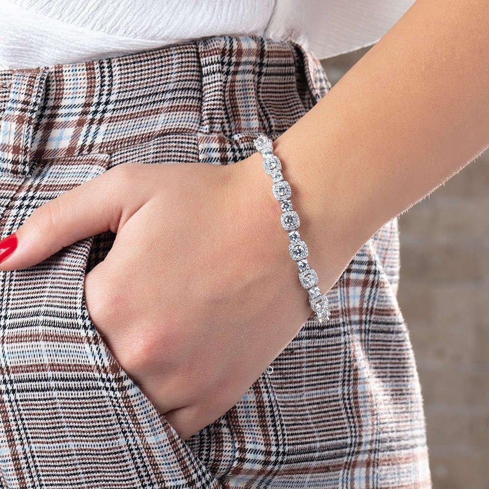 Starlight Diamond Pırlanta Montür Küçük Boy 925 Ayar Gümüş Su Yolu Bileklik