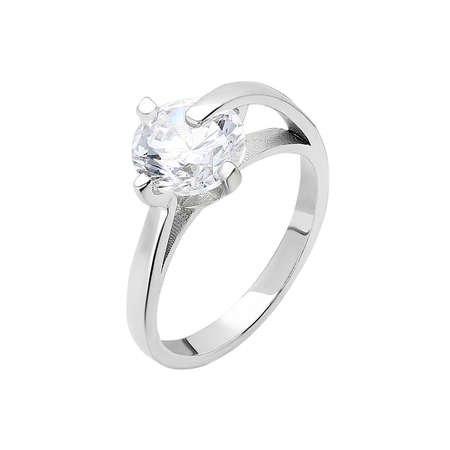 Starlight Diamond Pırlanta Montür Maxi Tasarım 925 Ayar Gümüş Bayan Tektaş Yüzük - Thumbnail