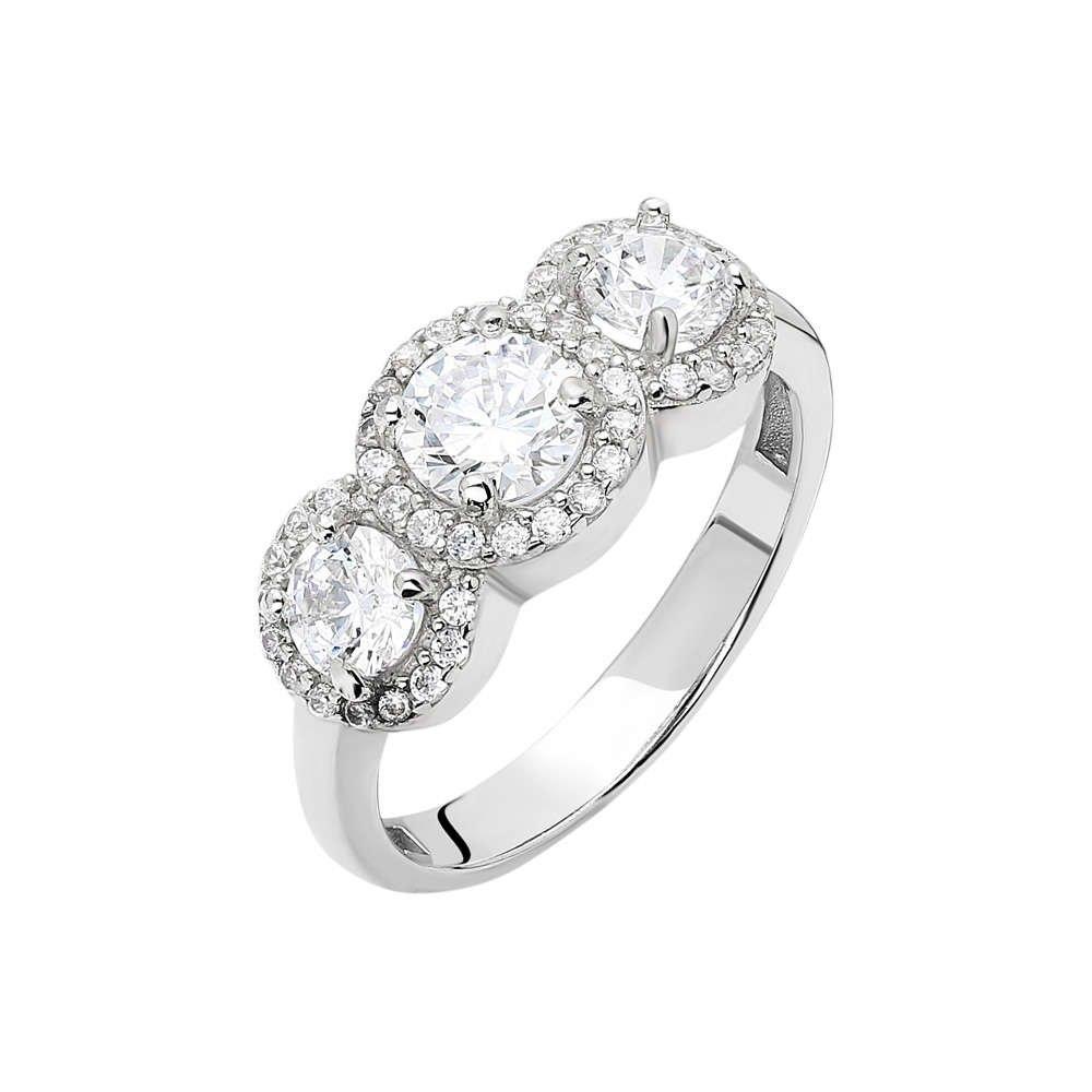 Starlight Diamond Pırlanta Montür Maxi Tasarım 925 Ayar Gümüş Bayan Tria Yüzük