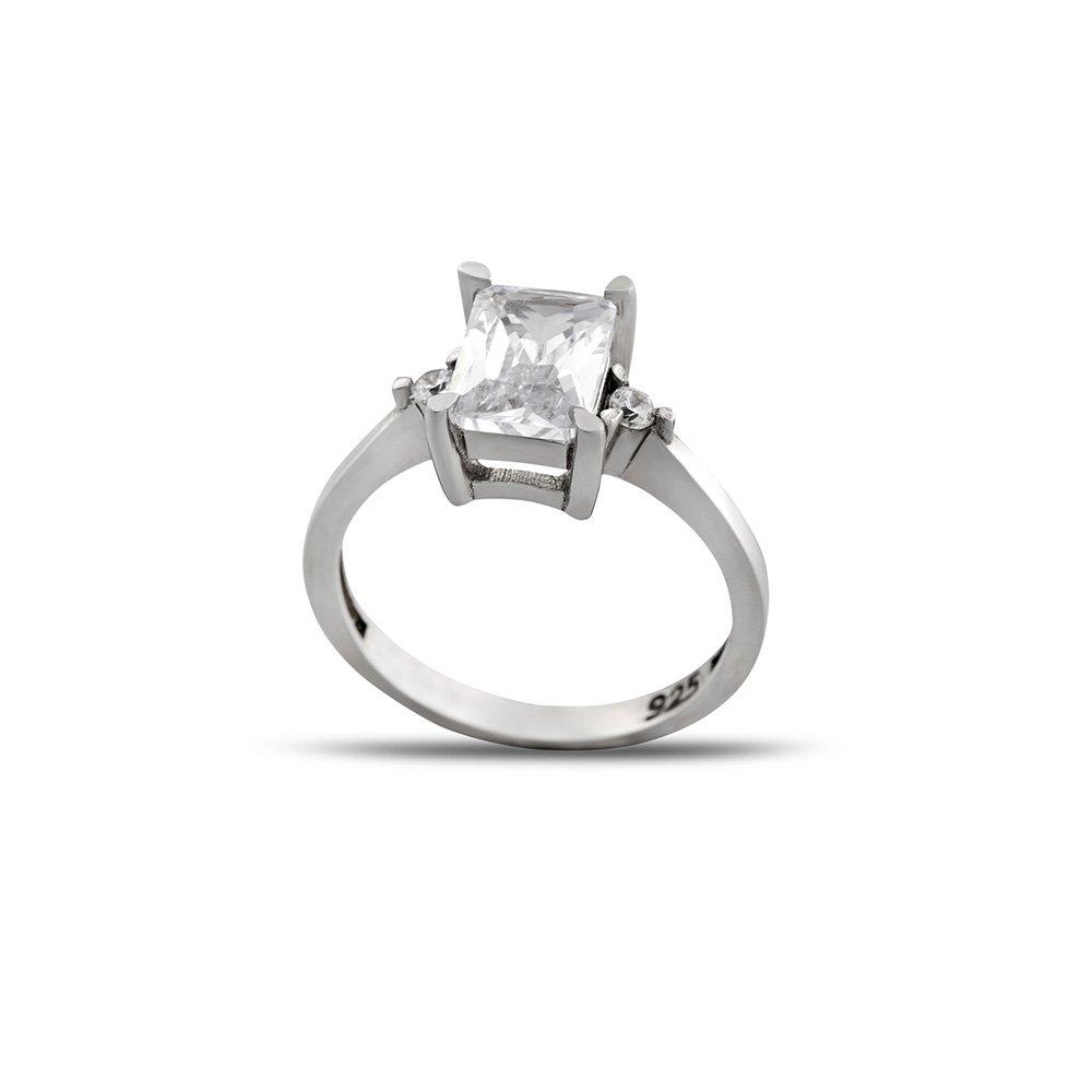 Starlight Diamond Pırlanta Montür Maximal Tasarım 925 Ayar Gümüş Kadın Baget Yüzük