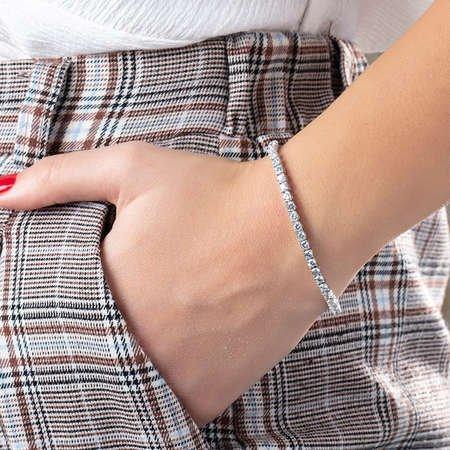 Starlight Diamond Pırlanta Montür Mini Boy 925 Ayar Gümüş Su Yolu Bileklik - Thumbnail
