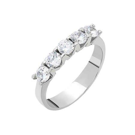 Starlight Diamond Pırlanta Montür Mini Tasarım 925 Ayar Gümüş Bayan Beştaş Yüzük - Thumbnail