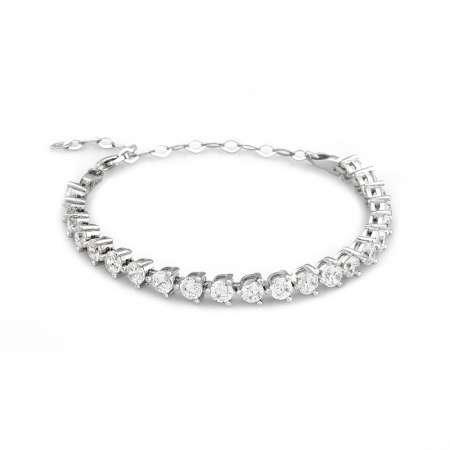 Starlight Diamond Pırlanta Montür Modern Tasarım Orta Boy 925 Ayar Gümüş Su Yolu Bileklik - Thumbnail
