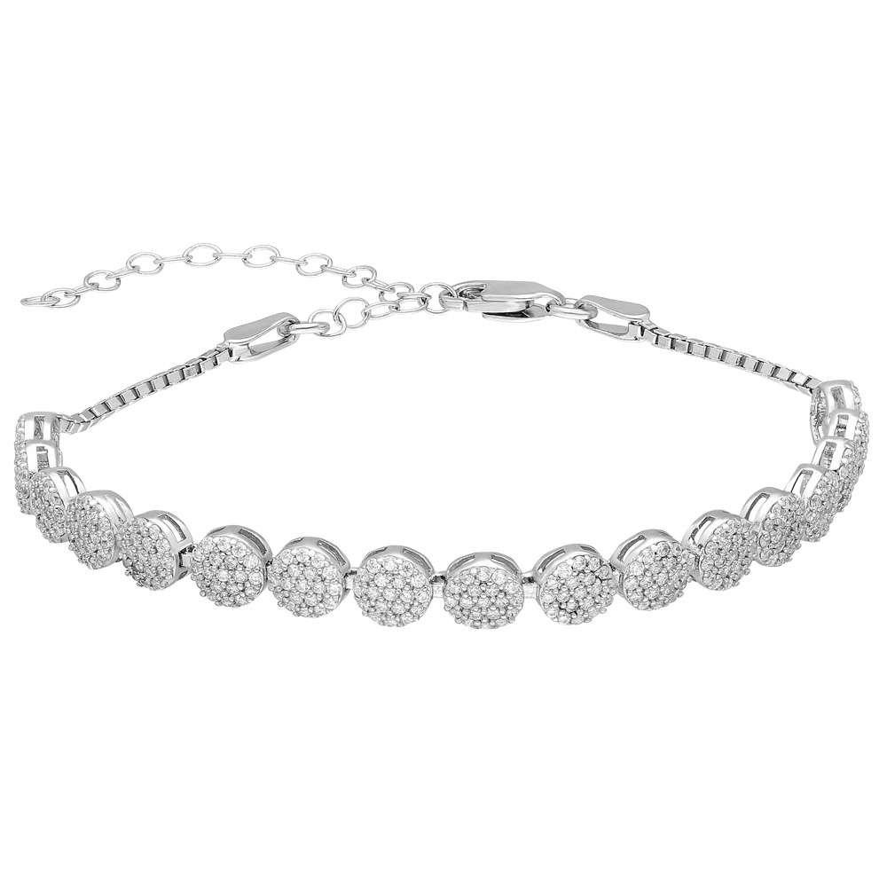 Starlight Diamond Pırlanta Montür Zarif Tasarım 925 Ayar Gümüş Su Yolu Bileklik