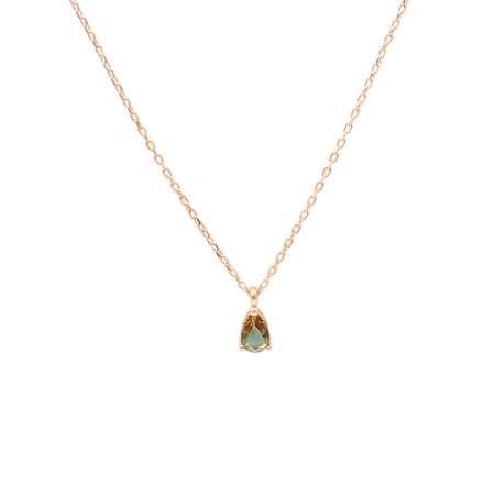 Starlight Diamond Zultanit Taşlı Damla Kesim Rose Renk 925 Ayar Gümüş Kadın Kolye - Thumbnail