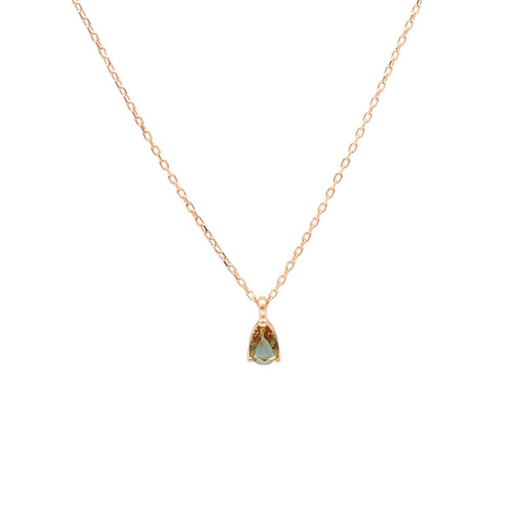 Starlight Diamond Zultanit Taşlı Damla Kesim Rose Renk 925 Ayar Gümüş Kadın Kolye