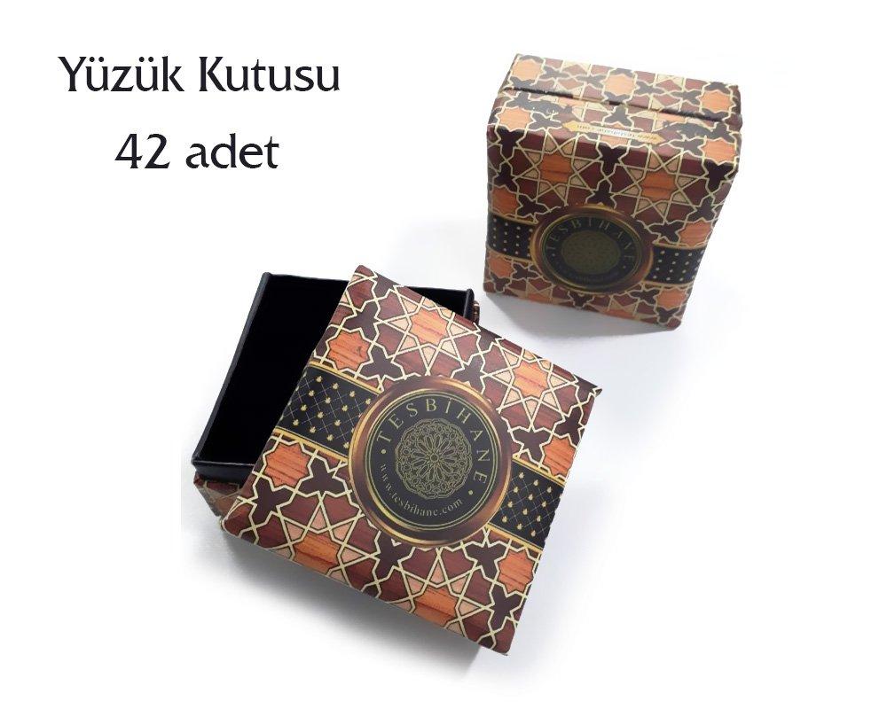Tesbihane logolu yüzük kutusu (1 Paket)