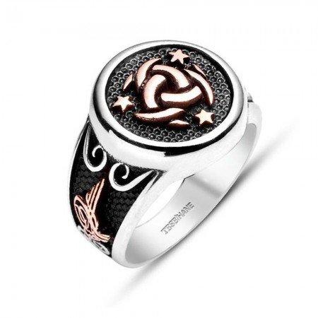 Teşkilat-ı Mahsusa-925 Ayar Gümüş Özel Tasarım Yüzük - Thumbnail