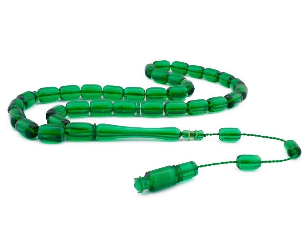 Usta İşçiliği Yeşil Renk Bakalit Kehribar Tesbih