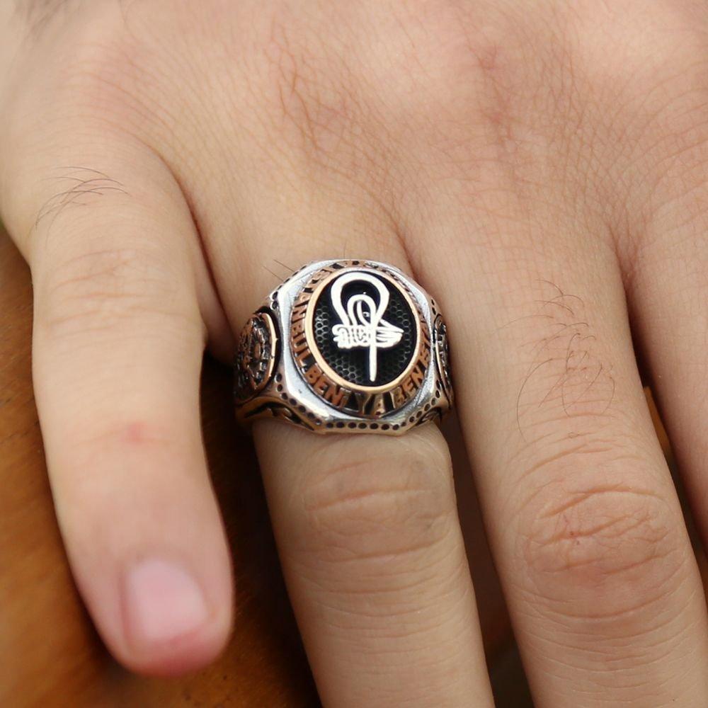 Ya İstanbul Beni Ya Ben İstanbulu Yazılı Gümüş Yüzük (Fetih Yüzüğü)