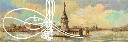 Yağlı Boya Tasarım Kız Kulesi Kanvas Tablo - Thumbnail