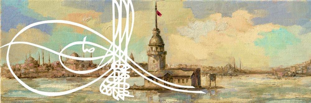 Yağlı Boya Tasarım Kız Kulesi Kanvas Tablo
