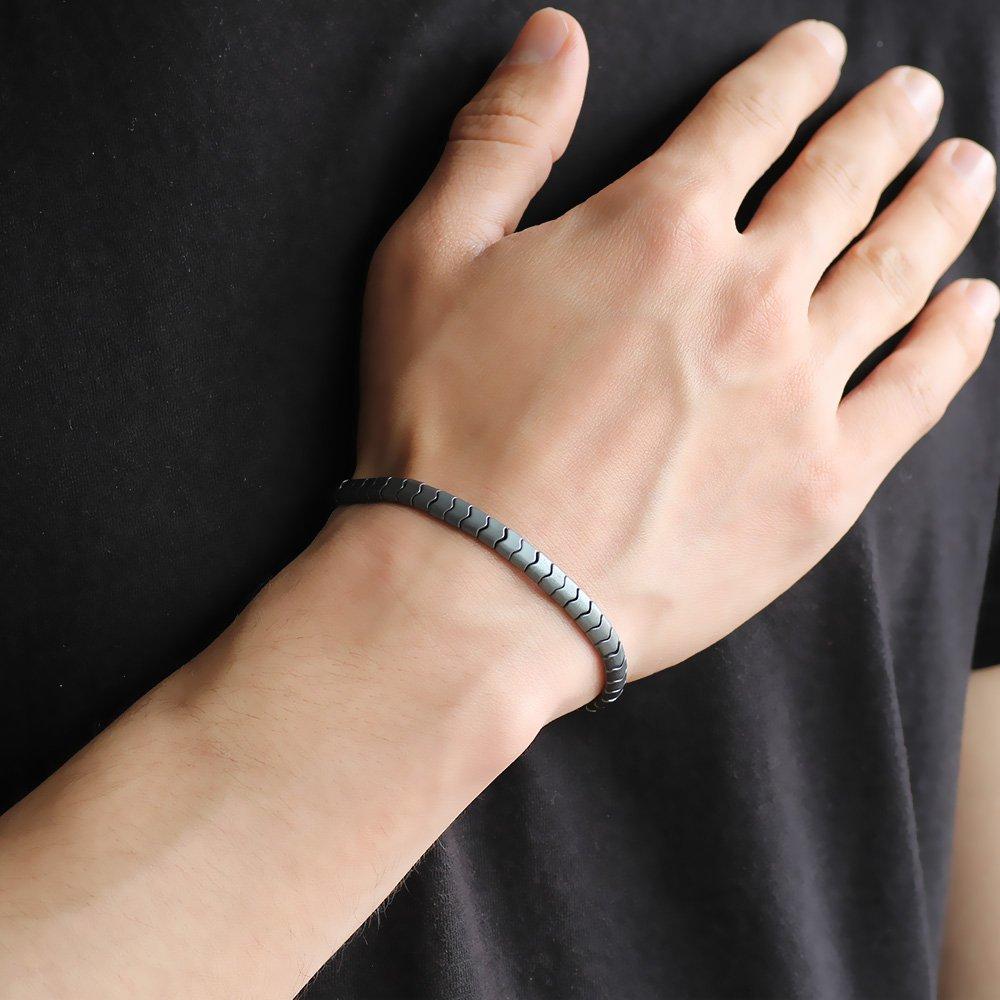 Yılan Tasarım Grey Hematit Doğaltaş Bileklik