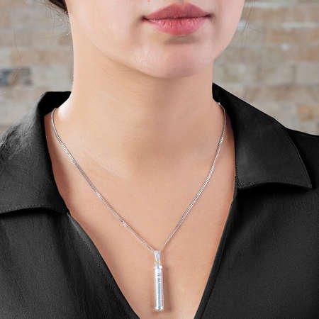 Zarif Tasarım 925 Ayar Gümüş Cevşen Kolye - Thumbnail