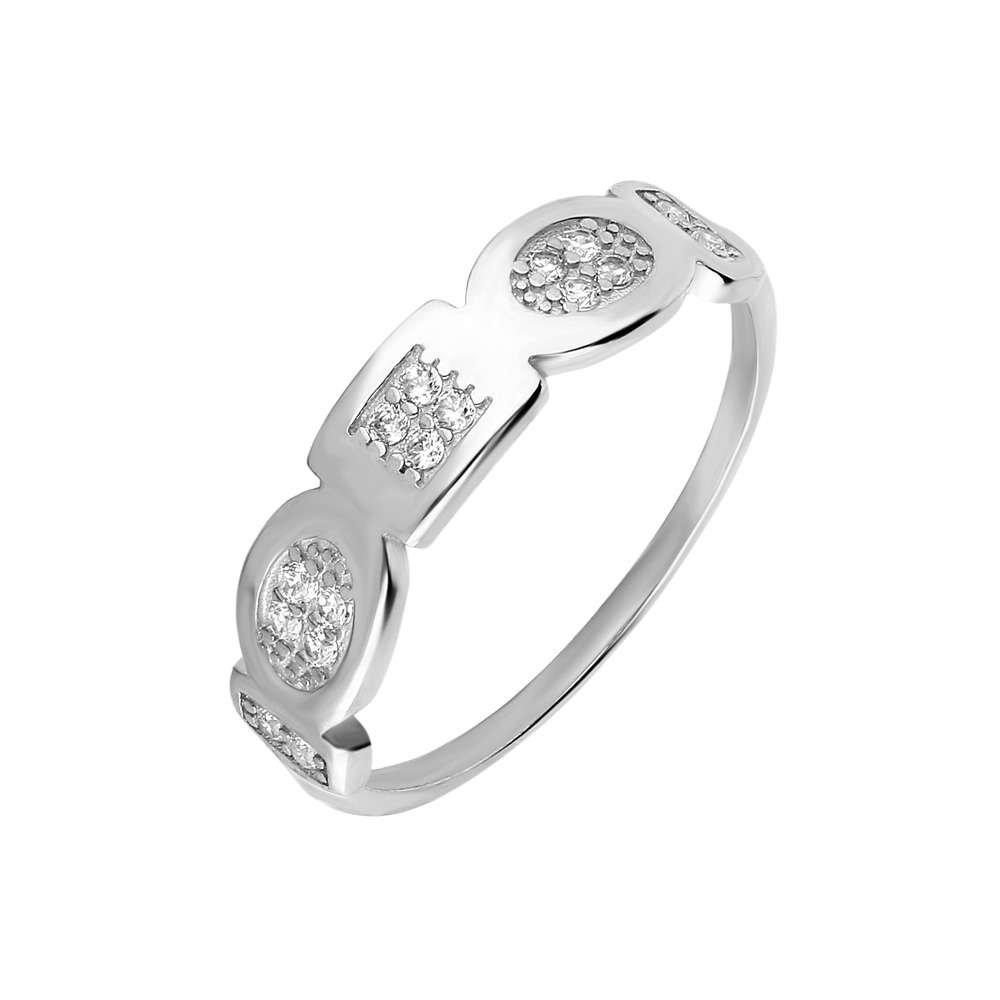 Zirkon Taşlı Geometrik Tasarım 925 Ayar Gümüş Bayan Yüzük