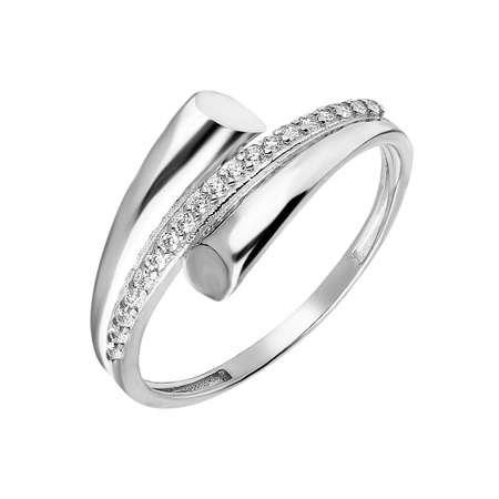 Zirkon Taşlı Helezon Tasarım 925 Ayar Gümüş Bayan Yüzük - Thumbnail