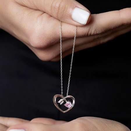 Zirkon Taşlı Kalp Tasarım