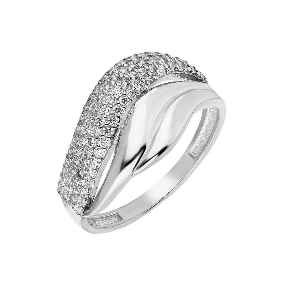 Zirkon Taşlı Wave Tasarım 925 Ayar Gümüş Bayan Yüzük