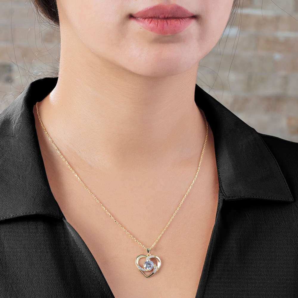 Zirkon Tektaşlı Kalp Tasarım Gold Renk 925 Ayar Gümüş 3'lü Takı Seti